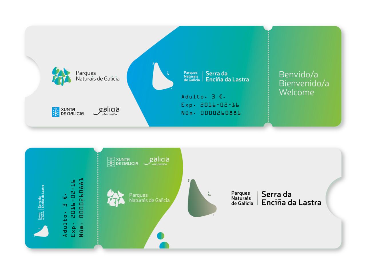 Identidade corporativa de Parques Naturais de Galicia 7