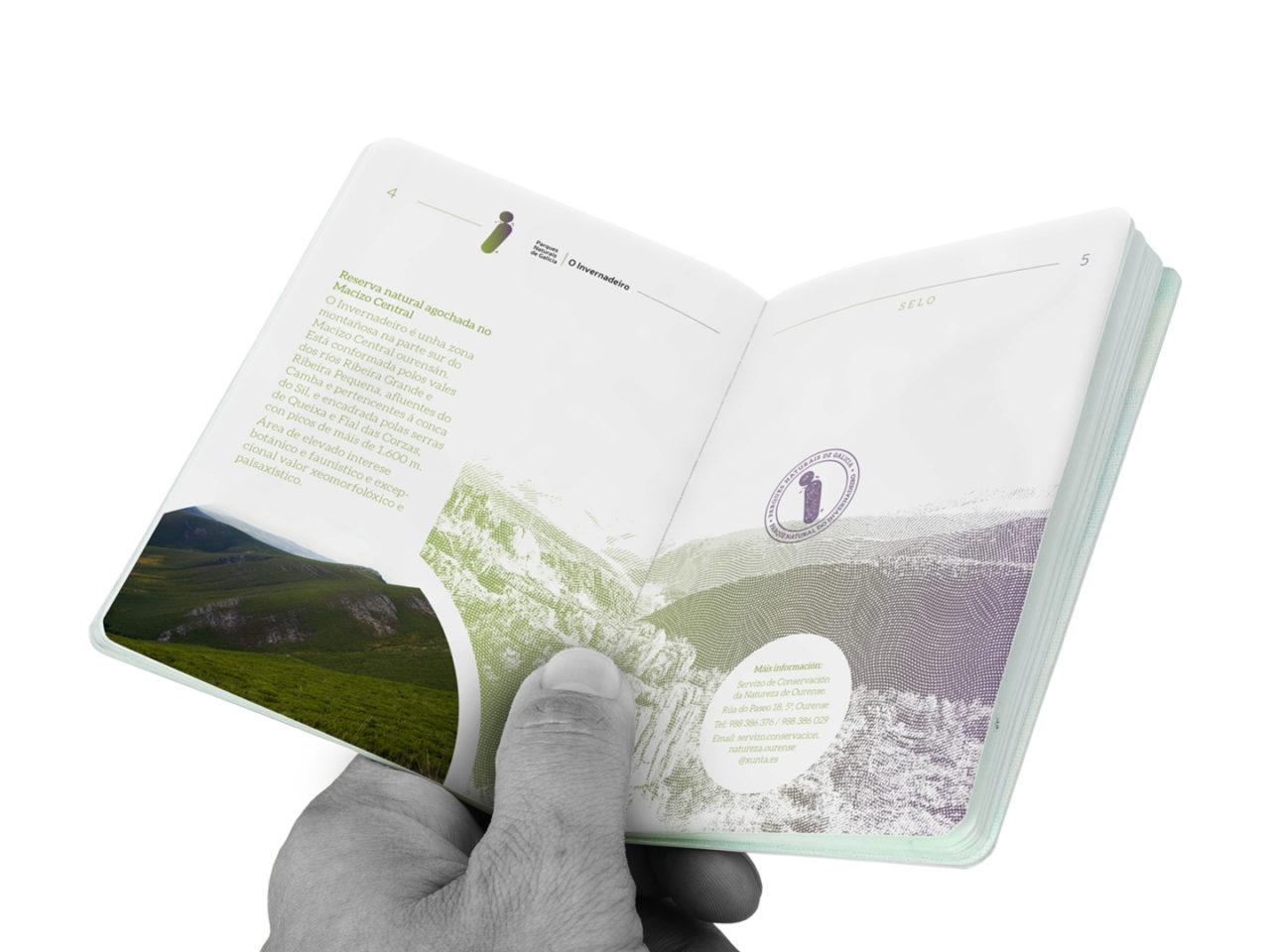 Identidade corporativa de Parques Naturais de Galicia 11