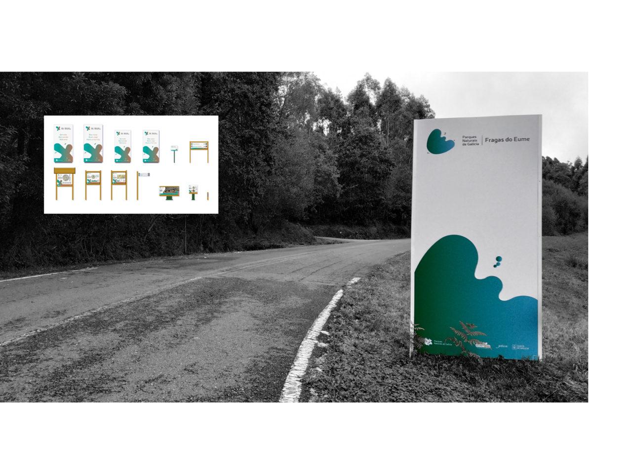 Identidade corporativa de Parques Naturais de Galicia 15