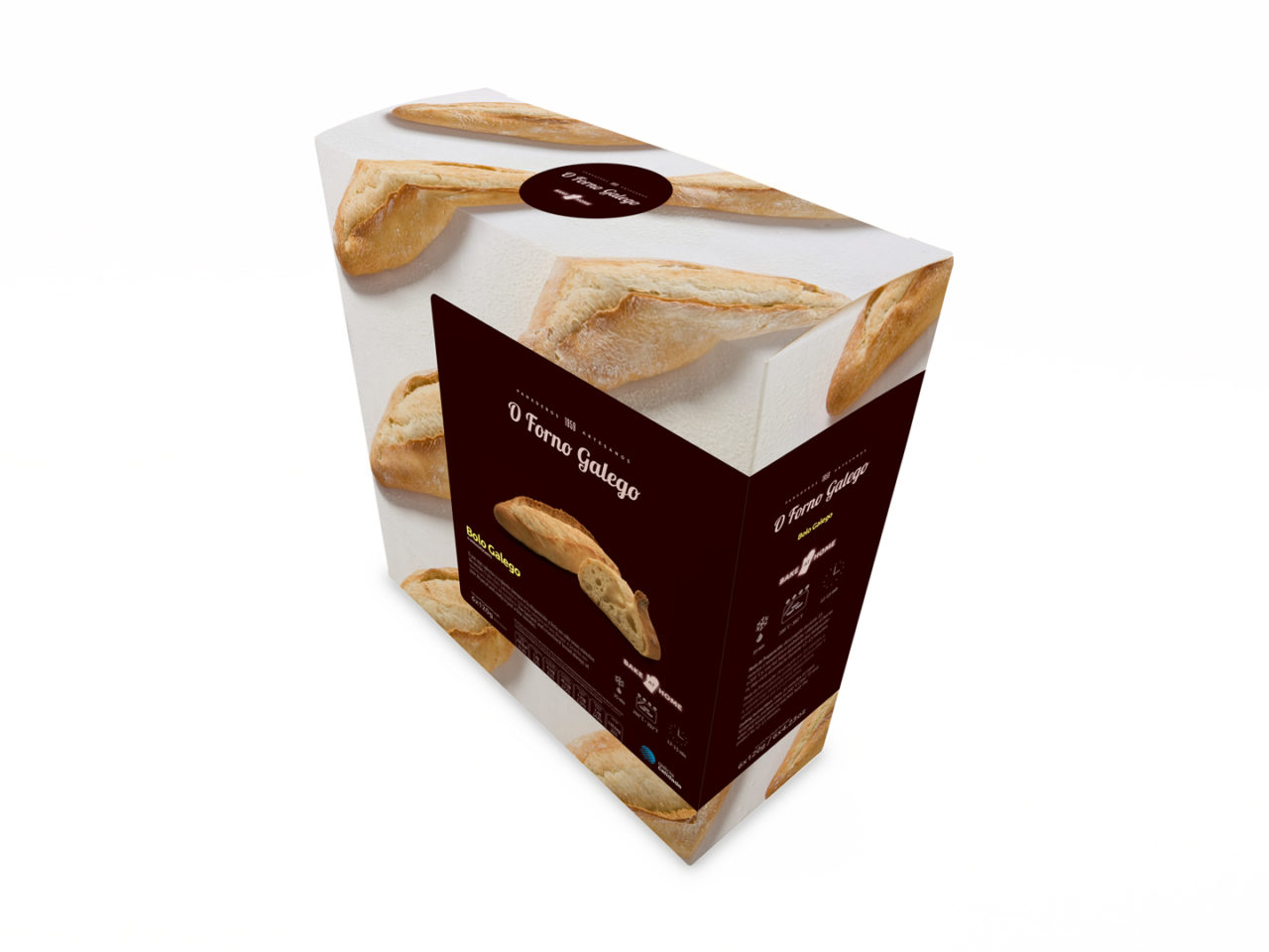 Packaging pan conxelado O Forno Galego